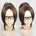 Free Track Anime Attack on Titan Shingeki no Kyojin Hanji Zoe Brown Cosplay Wig  Heat Resistant  Cap