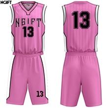 1384088e6ad Ngift Sublimation Custom Men/Women Kids Professional Basketball Jerseys  Youth Uniforms Set Shirt Shorts(