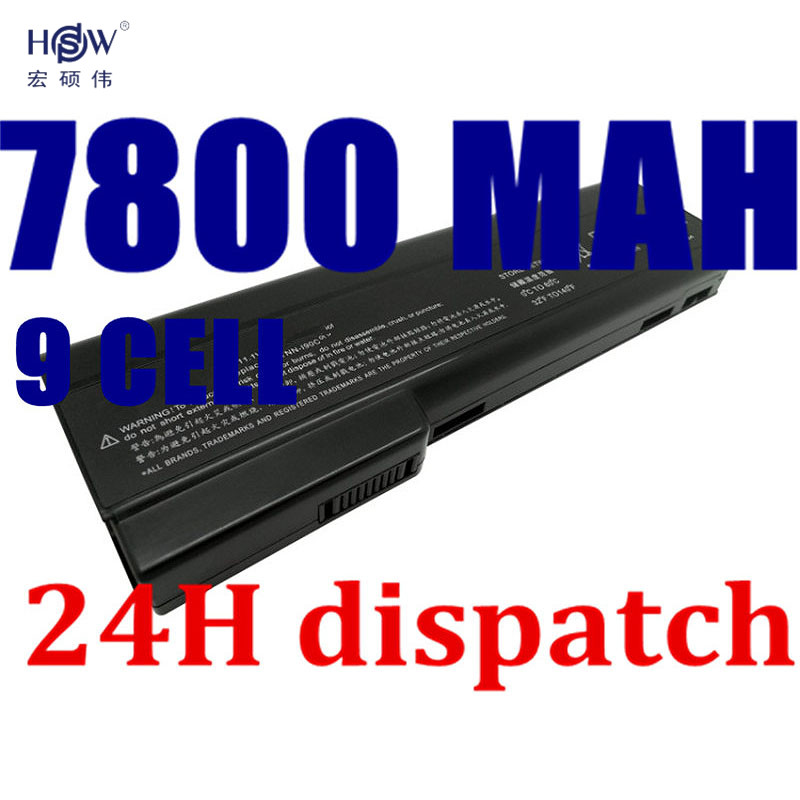 HSW 7800MAH Laptop Batteries for HP EliteBook 8460p 8460w 8560p 628369-421 HSTNN-F08C HSTNN-OB2G 630919-42 HSTNN-F11C HSTNN-OB2H