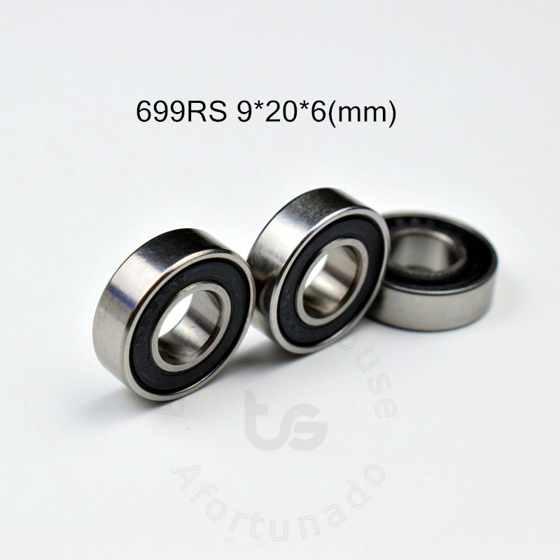 699RS 9*20*6(mm) 10pieces Bearing Free Shipping ABEC-5 Bearings 10pcs Rubber Sealed Bearing 699 699RS Chrome Steel Bearing