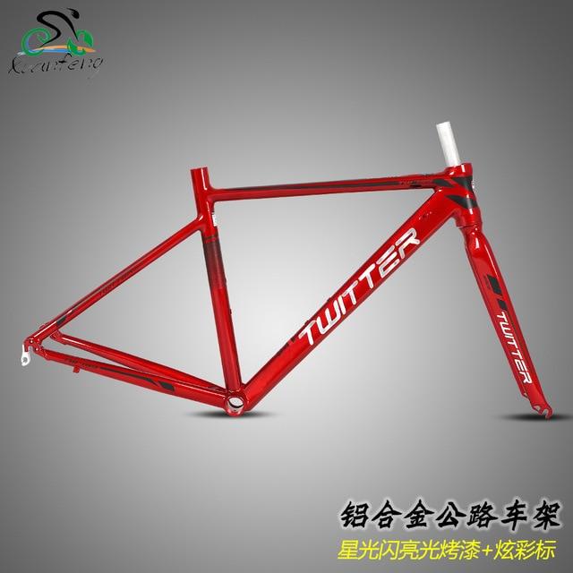 Twitter Road Bicycles Aluminum Alloy Frame and Fork 700C Wheels 44 46 48 50 52cm Bike Frame Size Cycling Parts лаки для ногтей konad stamping set стемпинг сет для начинающих