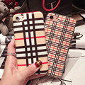 Fashion Grid Plaid phone cases soft back covers for Couple for lover case for iPhone 6 6s 6plus 6sp for iPhone 7 7plus for girl
