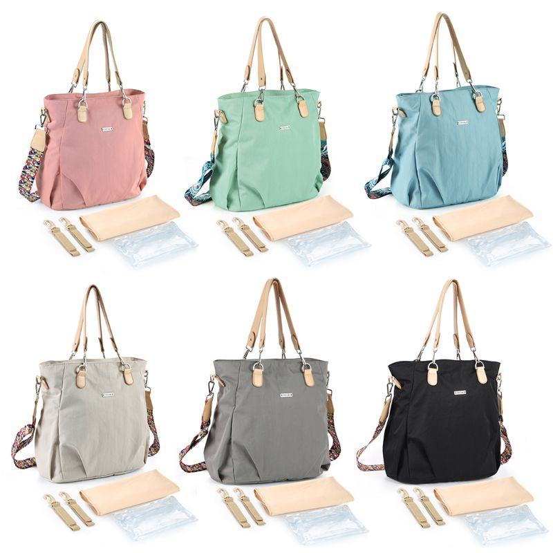 1Set 2019 Fashion Diaper Tote Shoulder Baby Nappy Bags for Mom Women Large Capacity with Changing Mat Wet Bag Multi Color1Set 2019 Fashion Diaper Tote Shoulder Baby Nappy Bags for Mom Women Large Capacity with Changing Mat Wet Bag Multi Color