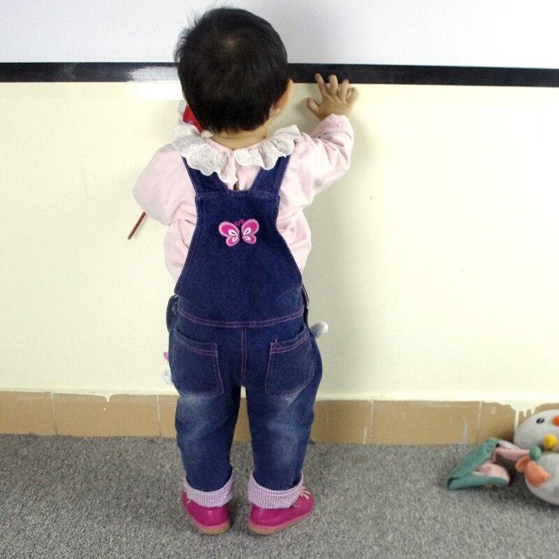 От 0 до 4 лет Детские комбинезоны для девочек брюки из хлопка для малышей; Джинсы для мальчиков; Комбинезоны с кроликами Bebes одежда с героями мультфильмов для детей ясельного возраста джинсовые штаны, комбинезон, детская одежда 5