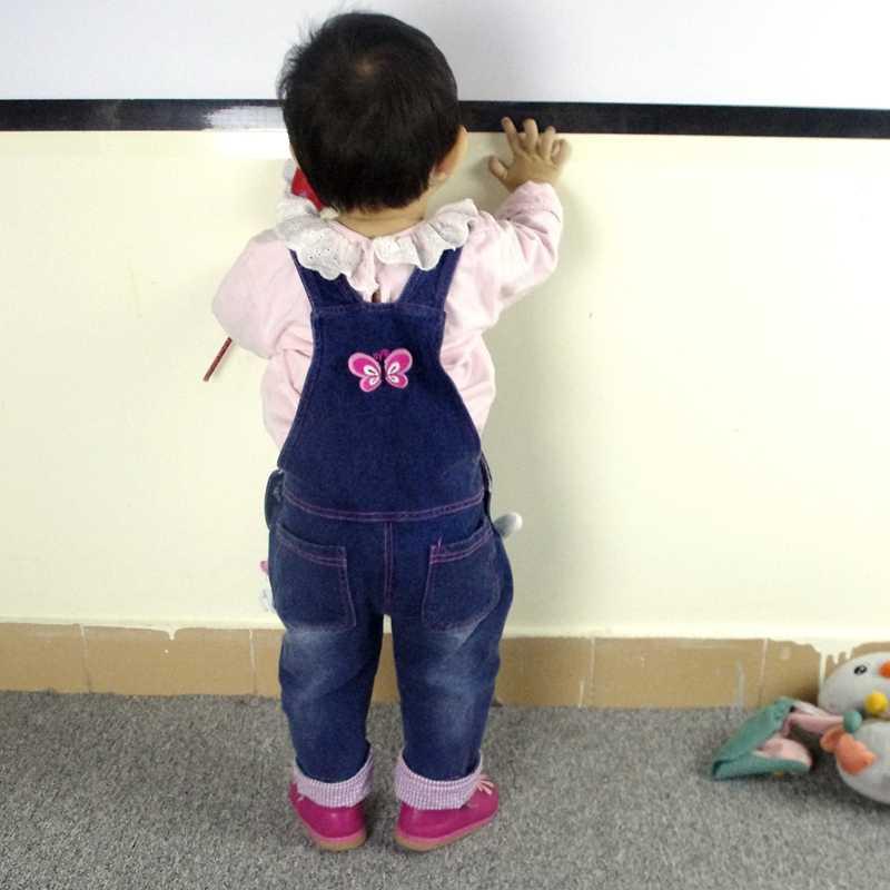 Детские комбинезоны для девочек на весну и осень Хлопковые джинсы комбинезоны с кроликами; Bebes; одежда с героями мультфильмов для детей ясельного возраста джинсовые штаны-комбинезон, детская одежда