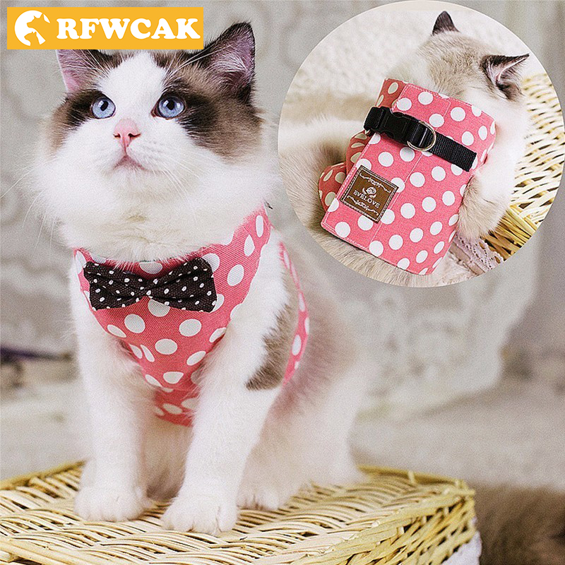 RFWCAK Pet Gatto Cane Finimenti di Sicurezza Walking Cat Collare Guinzaglio Pet Trazione Elegante Stile Britannico Giacca Carina Guinzaglio