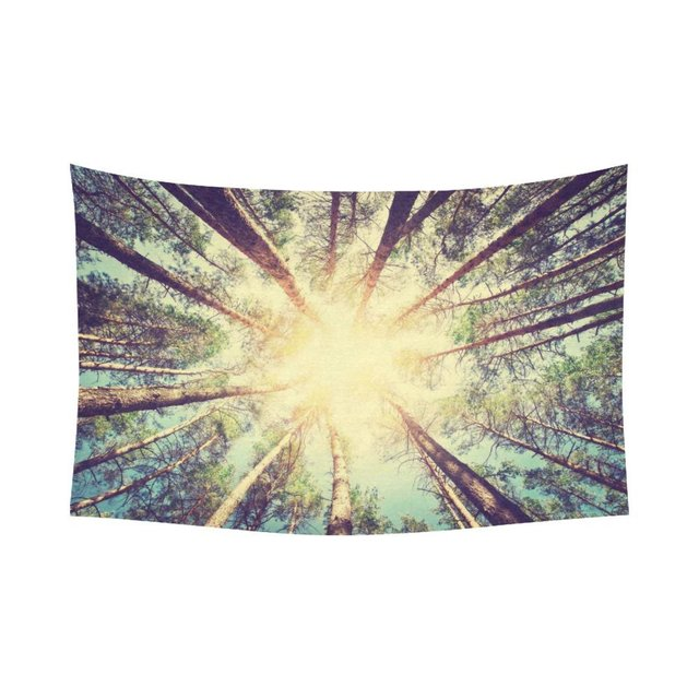 CHARMHOME Woodland Wall Art Home Decor Retro Vintage Style Forest ...
