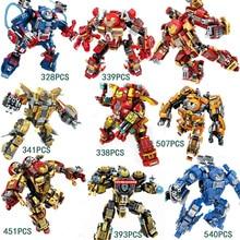 цена на Marvel heroes Ironman building block MK1 MK25 MK46 MK38 Hulkbuster iron patriot Tony Stark Captain America legoSTYLE minifigures