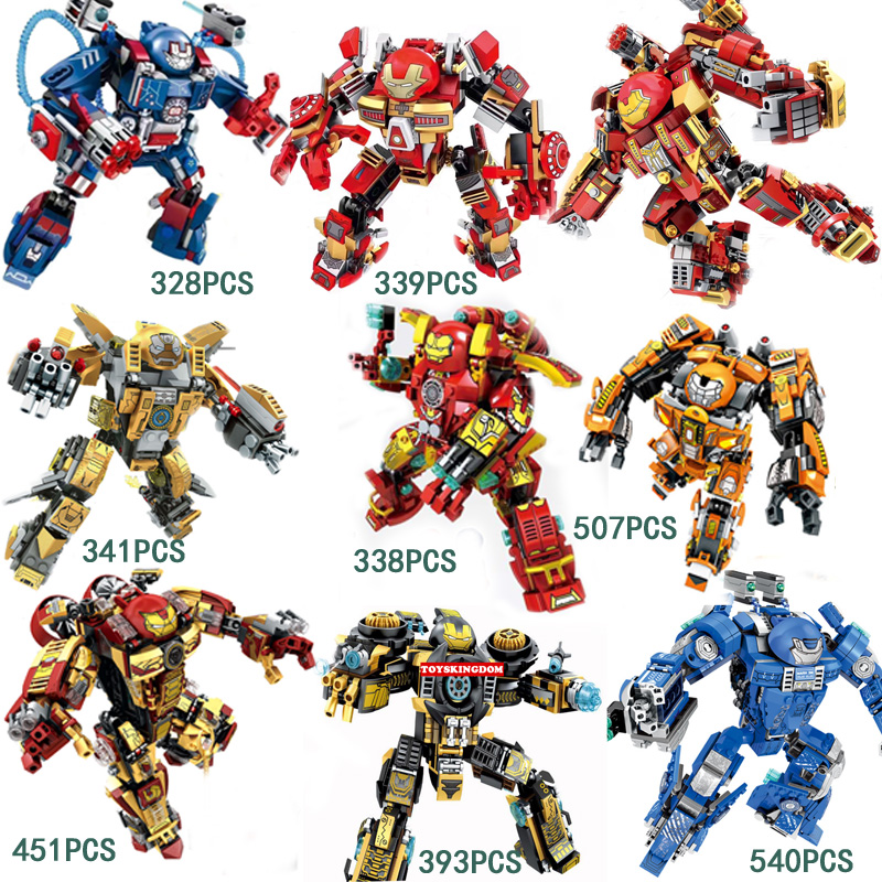 Marvel Super Heroes Ironman Armor Building Block MK17 MK42 MK46 MK36 MK38 Hulkbuster Patriot Tony Stark Figures Dragon Toys