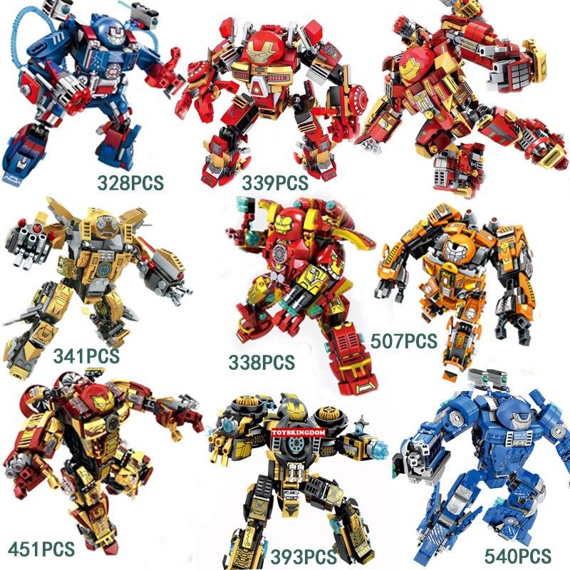 8pcs Dargo 853 Building Blocks Super Heroes Avengers Assemble Iron Man Fit Lego