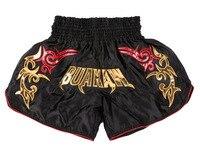 Muay thai shorts kickboksen shorts mma fight trunks volwassen muay thai korte mma combat sport broek Zwart Rood zilver voor mannen vrouwen