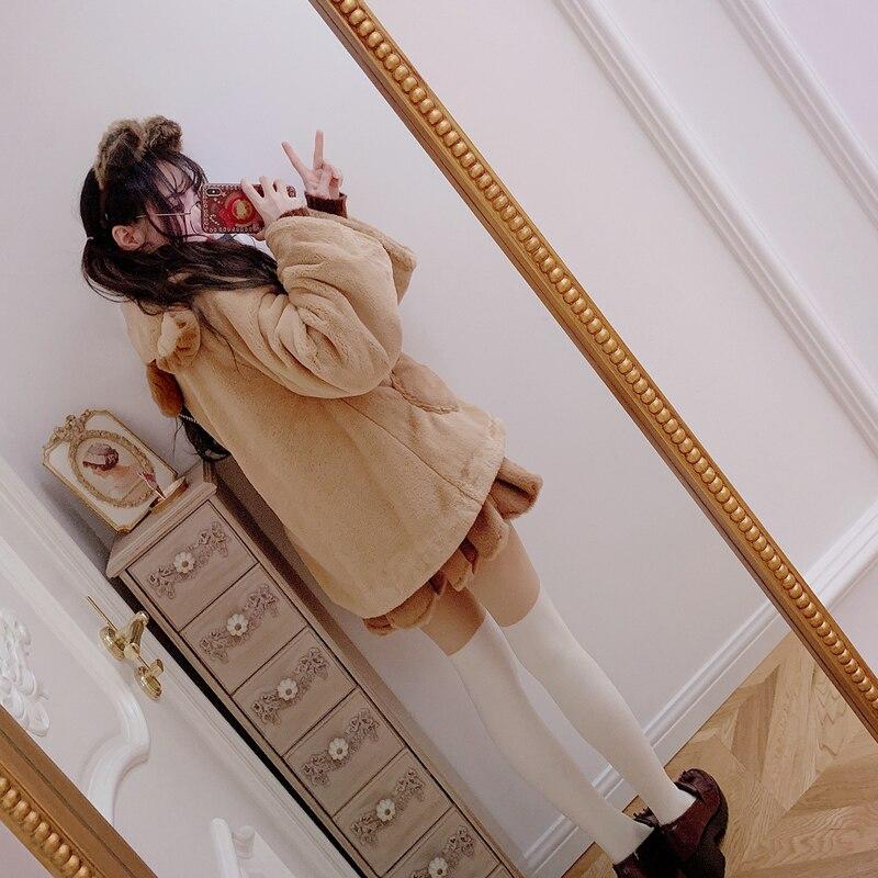 Pétalo Lolita De Moda Hermana Las Peluche Mujeres Falda Faldas Dulce Suave B1717 La Japonés Desgaste Bobon21 Mariposa Costura RPwqw
