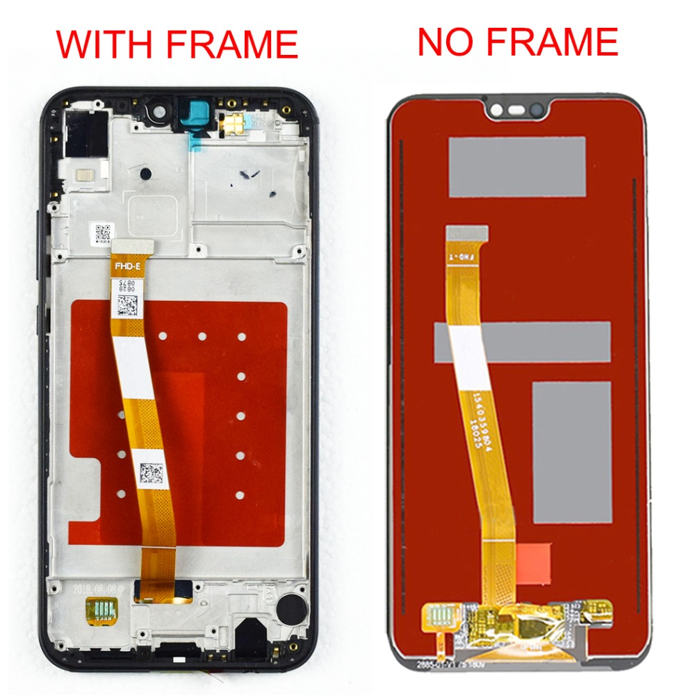 2280*1080 Original Quality LCD With Frame For HUAWEI P20 Lite Lcd Display Screen For HUAWEI P20 Lite ANE-LX1 ANE-LX3 Nova 3e