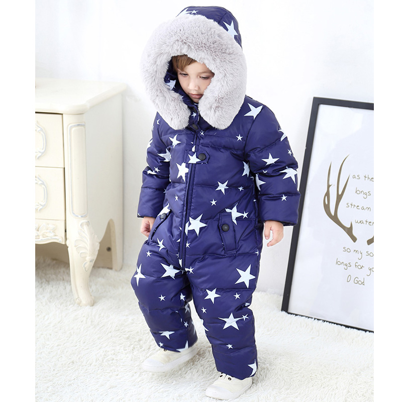 Baby Clothes Ski Suit Rompers Autumn Winter Baby Girl Boy Rompers Russia -30 Hooded Fur Jumpsuits Down Jacket for Girls SnowsuitBaby Clothes Ski Suit Rompers Autumn Winter Baby Girl Boy Rompers Russia -30 Hooded Fur Jumpsuits Down Jacket for Girls Snowsuit