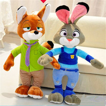 ZOOTOPIA Nick Wilde Judy Hopps Plush Fox Toy Soft Stuffed Doll NEW