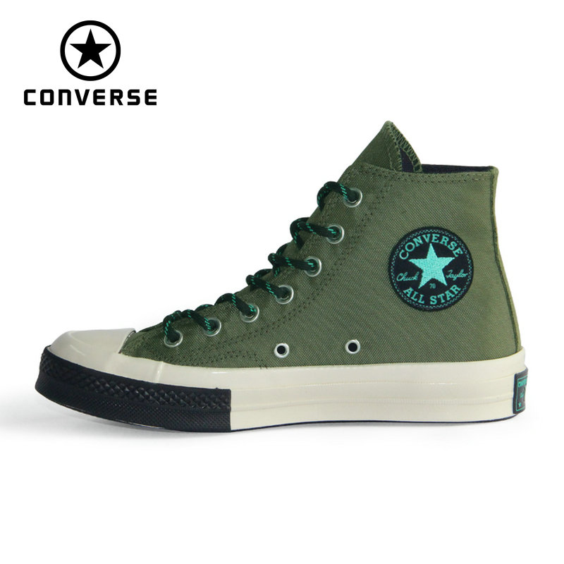 1970S Converse Original all star Camouflage high quality canvas shoes unisex sneakers Skateboarding Shoes 161481C anime converse all star skateboarding shoes boys girls pokemon snorlax white black canvas sneakers design 2 colors
