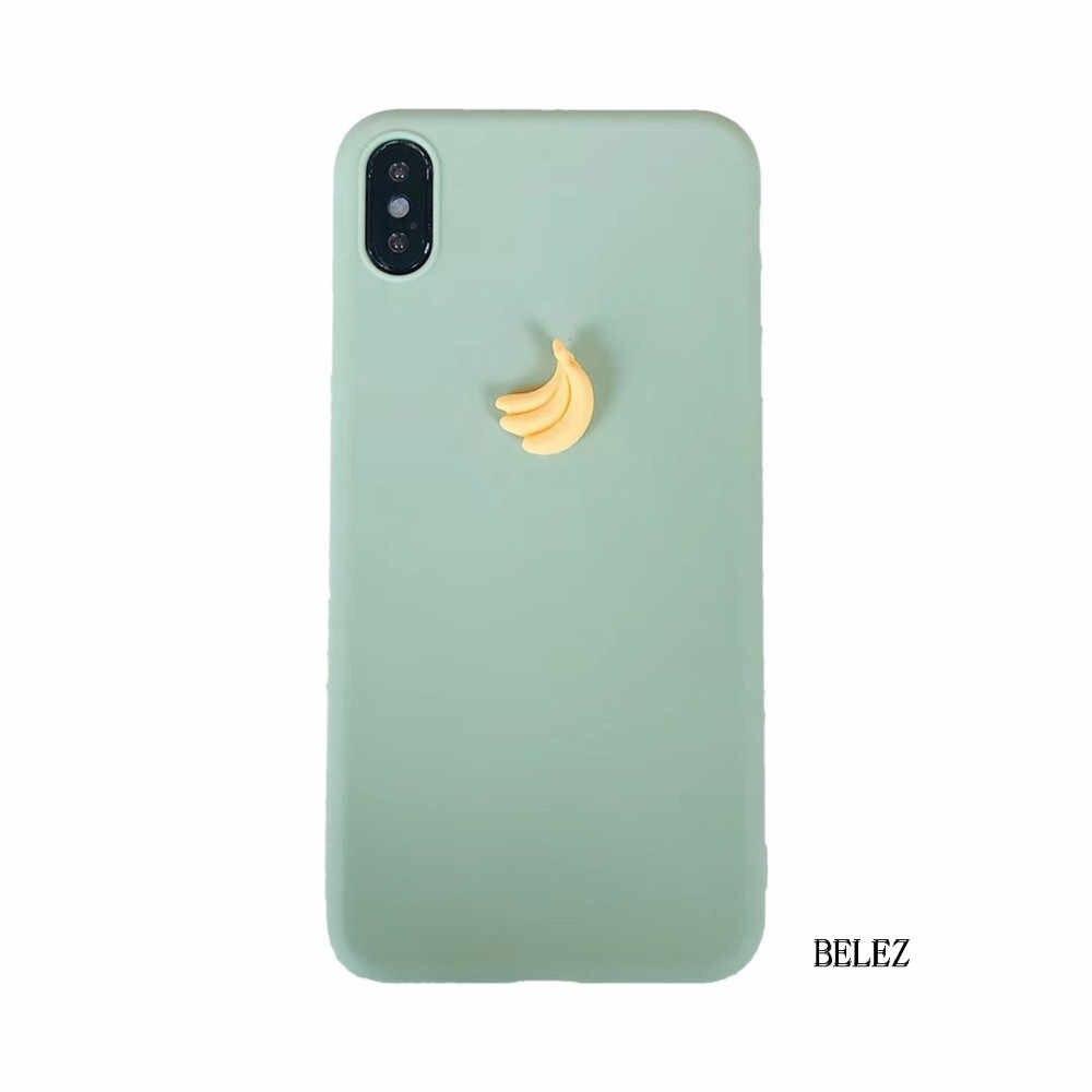3D фрукт банан персик виноград конфеты Мягкий силиконовый чехол для samsung Galaxy S10 S9 S8 Plus S7 Note 9 A10 A50 A750 M10 M30 милый чехол