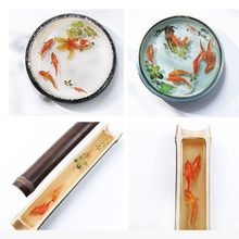 JAVRICK 3D Goldfish Collection Clear Film Resin Fillings Vivid Water-Like Jewelry Making
