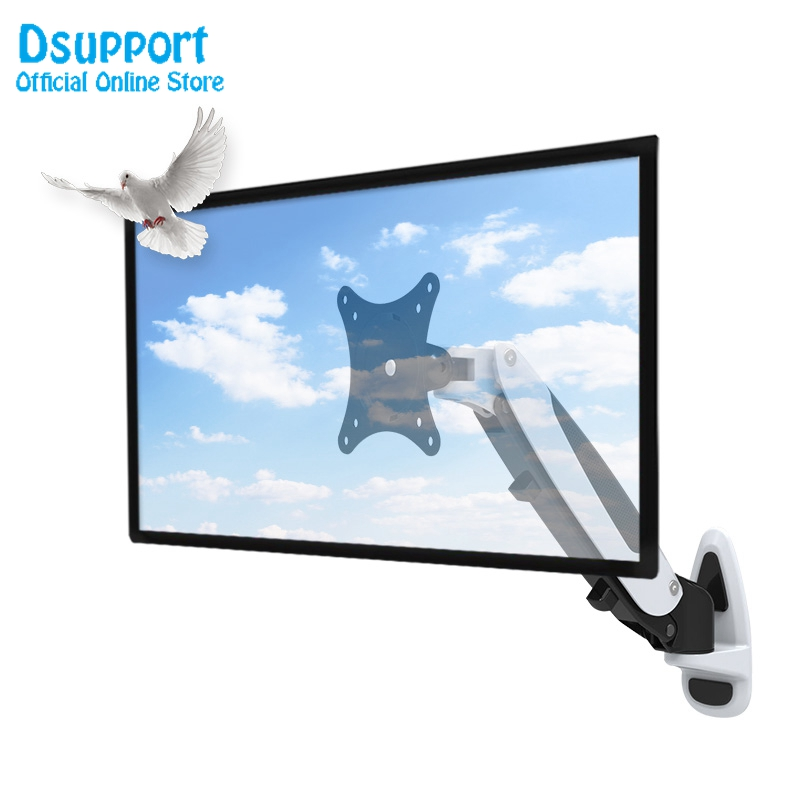 Aluminum Gas Spring 360 Degree 15-27 inch LCD LED TV Wall Mount Full Motion Height Adjustable Monitor Holder Arm Bracket