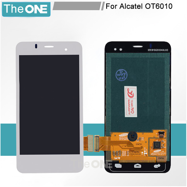 5 pcs For Alcatel One Touch OT6010 OT6010D 6010 6010D Full LCD DIsplay + Touch Screen Digitizer Assembly