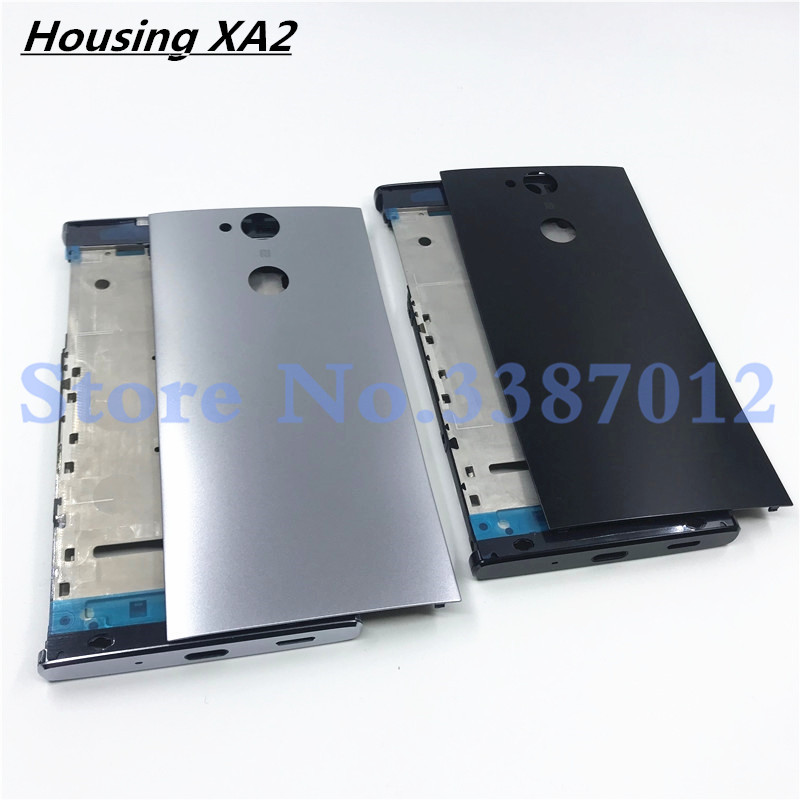 Original Middle Front Frame Bezel Housing For Sony Xperia XA2 H4133 H4131 H4132 Battery Back Cover Replacement Parts With Logo