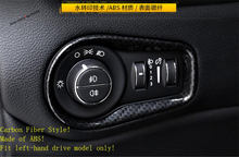 Yimaautotrims Front Head Lights Headlamp Switches Button Frame Cover Trim For Jeep Renegade 2015 - 2020 ABS Interior Mouldings lapetus front head lights headlamp switches button frame cover trim abs fit for hyundai kona 2018 2019 accessories interior