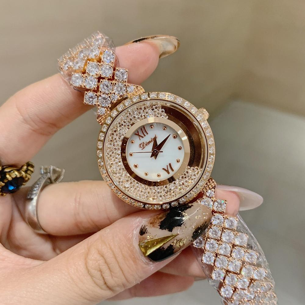 Brand Luxury Full Zircons Bracelet Watches For Women Top Fashion Rhinestones Jewelry Watch Happy Crystals Wrist Watch Waterproof