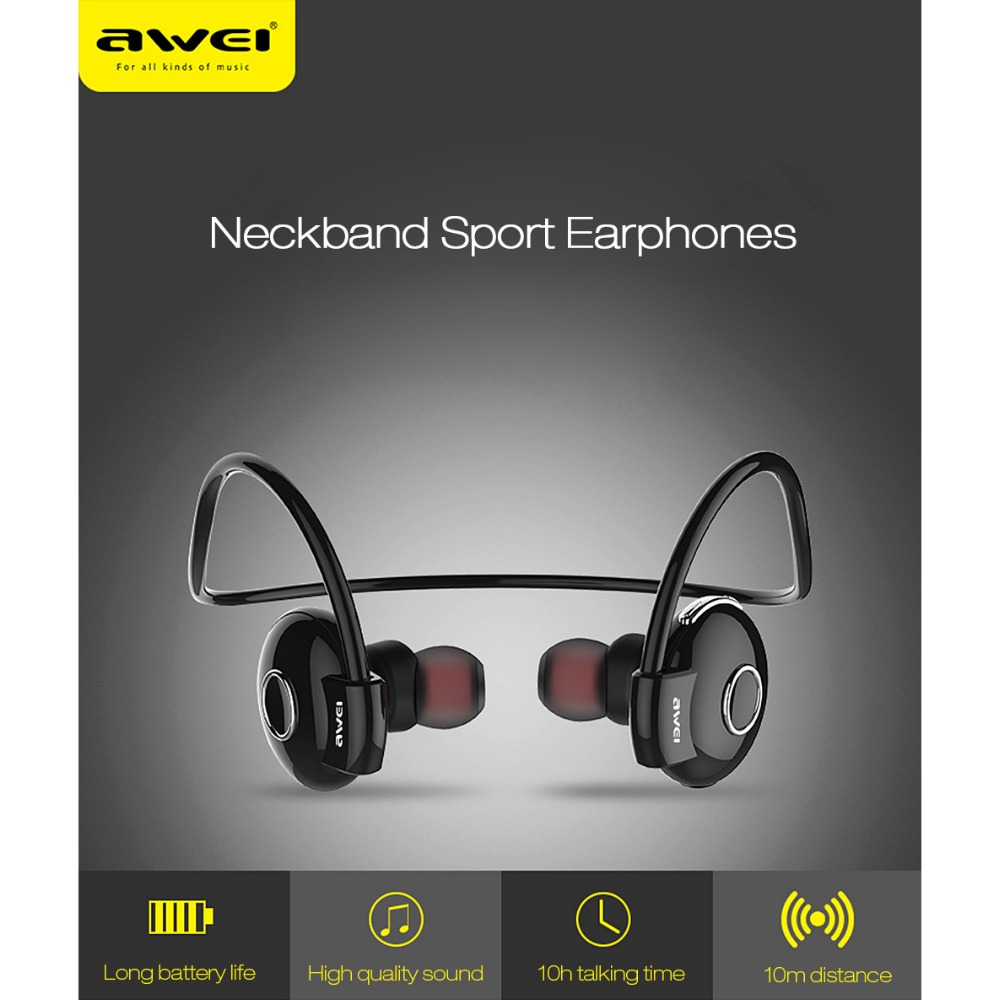 Awei Blutooth Sport Wireless Headphone In-Ear Auriculares Bluetooth Earphone For Your In Ear Phone Bud Running Headset Earbud 3