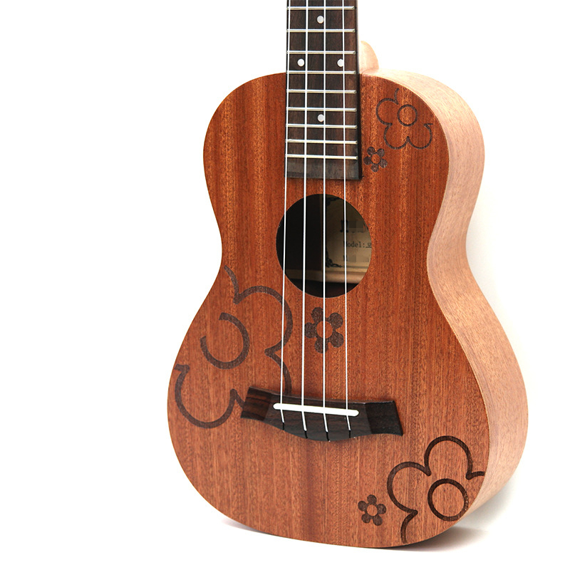 Afanti Music 23 inch small Guitar / Sapele / 23 inch Ukulele (DGA-142) 12mm waterproof soprano concert ukulele bag case backpack 23 24 26 inch ukelele beige mini guitar accessories gig pu leather