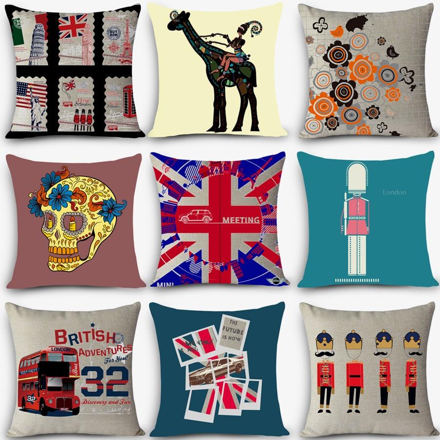 Cheap Car Seat Linen Decorative Throw Pillow Nordic Vintage Outdoor Chair  Cushions Home Decor UK London