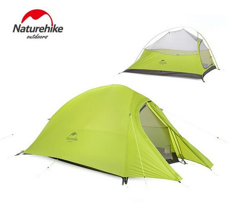 NatureHike 2 Person Waterproof Tent Double-layer Camping Tent with Skirt Picnic Lightweight 4 Seasons Tent good quality flytop double layer 2 person 4 season aluminum rod outdoor camping tent topwind 2 plus with snow skirt