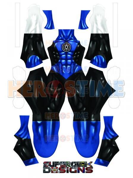 Blue Lantern Corps 3D Printed Blue Lantern Costume Spandex Superhero Cosplay Costume No Eyemask