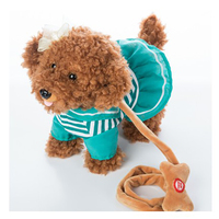 Electric Leash Dog Navy Teddy Plush Toys Music Machinery Remote Control Leash Dog Electronic Toys For