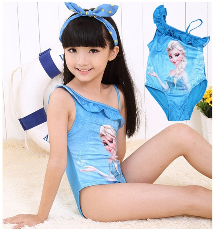 Hot Sales Snow Ice Girl Swimwear Children Skirt-piece Swimsuit Cute Princess One-piece Baby - TEER International Trading Co., Ltd. store