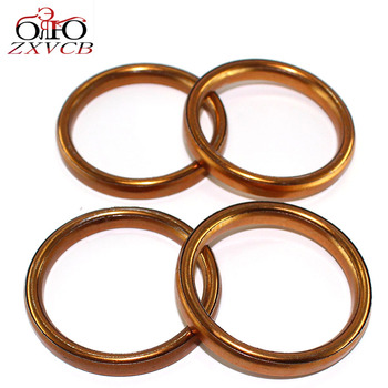 4PCS FOR HONDA TG50M 1985 1986 XL100 1976-1978 CT125 1977 NX125 88-90 SL125/K1/K2 Motor Sport 1971-1973 Exhaust Pipe Gasket Seal image