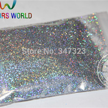 0,4 мм лазерный Алмазный Серебряный цвет голографический блеск для ногтей гель лак для ногтей или другие художественные украшения