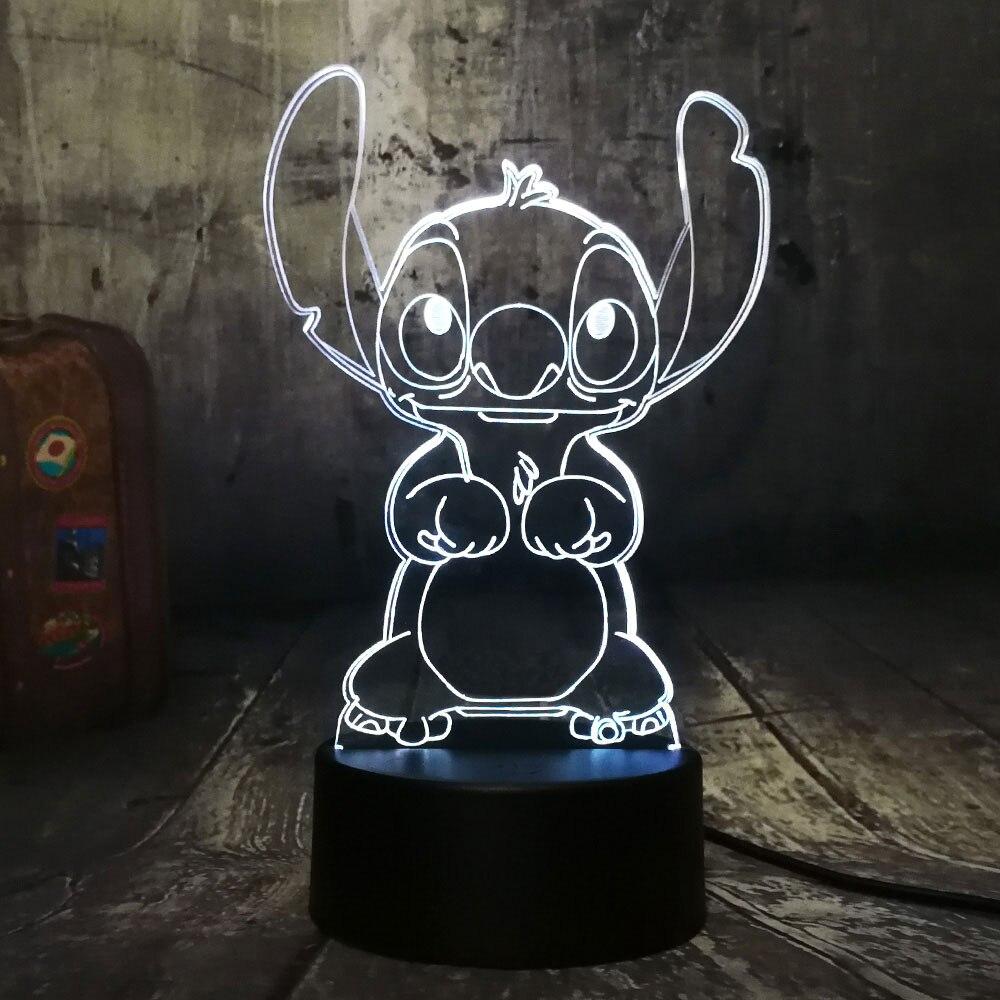 Ponto criativo 3d luz da noite painel