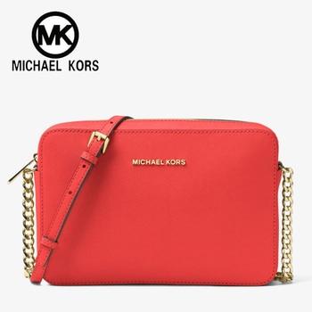 390f29c85735 FSO- Michael Kors Official MK Women Bag Whitney Leather Shoulder Bag  Designer New Brand Luxury Women Handbags Jet Set Travel Bags