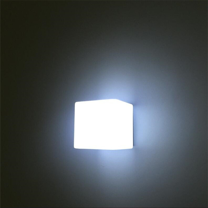 White Nordic Glass Modern Wall Lamps Bathroom Led Mirror Light ...