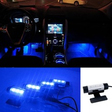 12 V LED Blu Luce Car Interior Decorative Luce Della Lampada Atmosfera