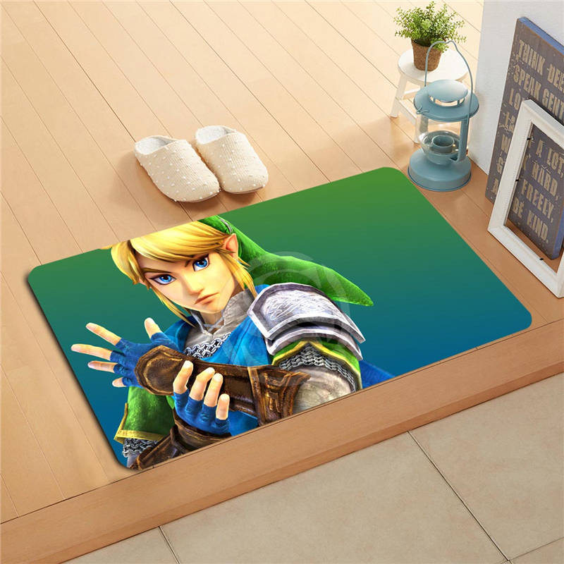 W620#11 Custom the legend of zelda Anime Watercolor Painting Doormat Home Decor Door mat Floor Mat Bath Mats foot pad F-#9