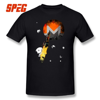 Up To The Moon MONERO Edition 100% Cotton Crew Neck Short Sleeve T-shirt