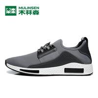 MULINSEN Men S Sports Shoes Light Running Sneakers Black Blue Gray Original Cushioning Athletic Speed Training
