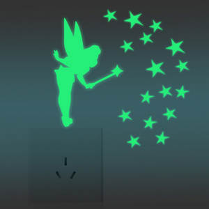 Decal Glow In Dark Baby Kids Bedroom Wall Stickers Home Decor Color Fairy Stars Luminous