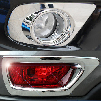 MACHADO Frente Fog Light Foglight Traseira Guarnição Lâmpada Cromo Cobre Estilo Do Carro Para Dodge Journey Fiat Freemont 2011-2018 2015 2016 2017