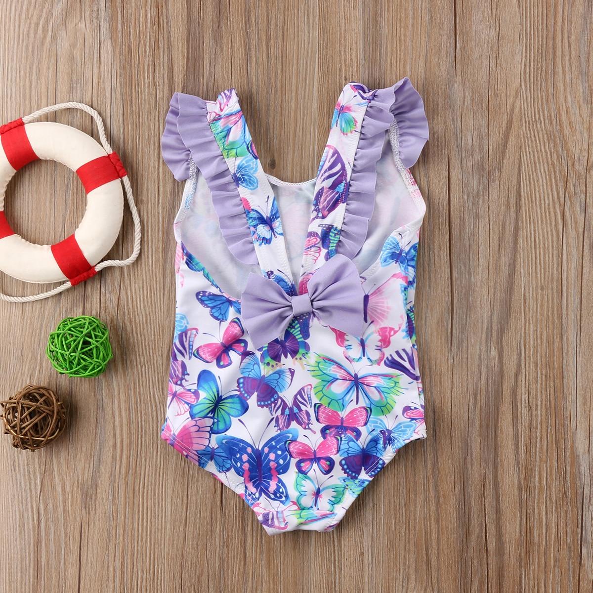 Butterfly Baby Girls Hot Bikini Swimwear Bow Kids One Piece Swimsuit Beachwear Bathing Suit in Children 39 s One Piece Suits from Sports amp Entertainment