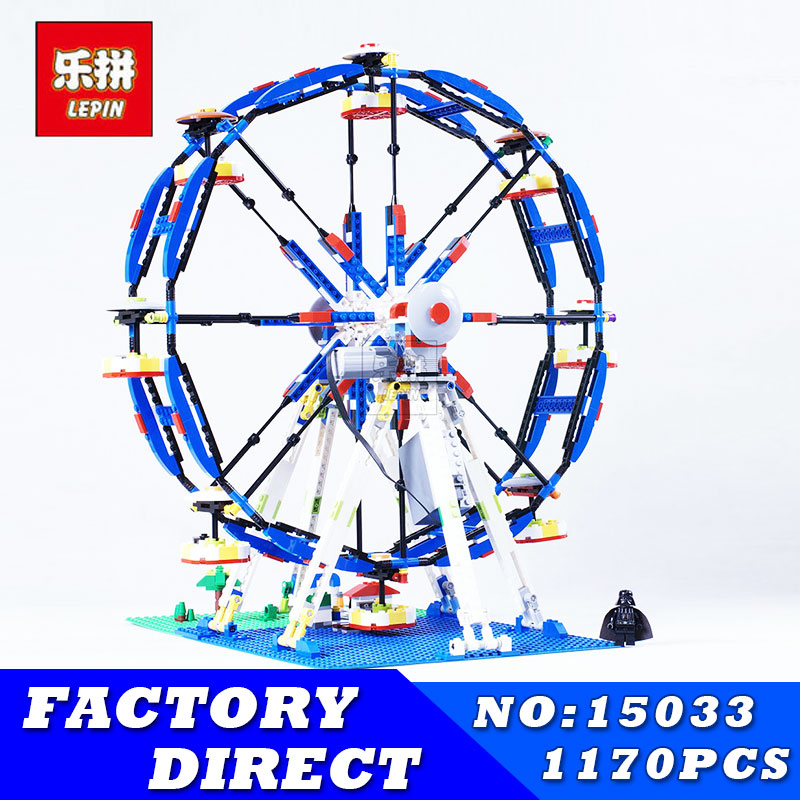 LEPIN 15033 Genuine Classic City Series The Three-in-One Electric Ferris Wheel Set Building Blocks Bricks Toys Model 10247 15033 1170pcs building classic series the three in one electric ferris wheel set building blocks compatible with 4957 toy lepin