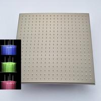 Высокое качество Хорошая цена матовый Никель Насадки для душа со светодиодной Цвет Изменение 20 дюйм(ов) квадратный