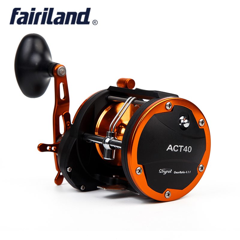3BB+1RB 636g/22.4oz 4.1:1 Fairiland Drum Trolling Reel (40A/B) RIGHT HAND 18Kg Drag Power Boat Fishing Reel Saltwater reels 4bb right hand 4 1 1 fairiland drum trolling reel 18kg drag power boat fishing reel 2 colors 30a b avail saltwater freshwater