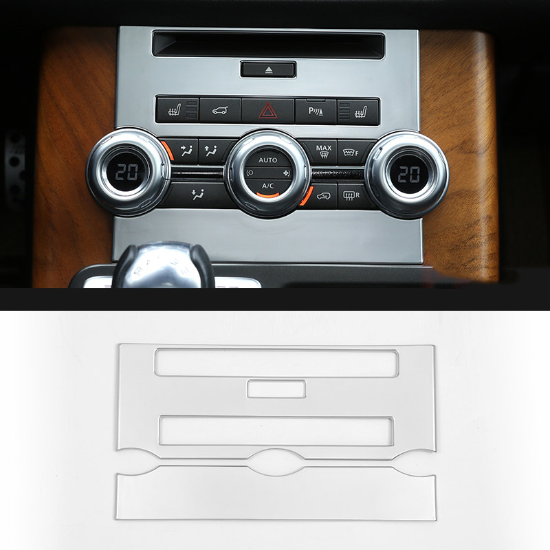 2012 2013 ABS Chrome Central Control CD Panel For Land